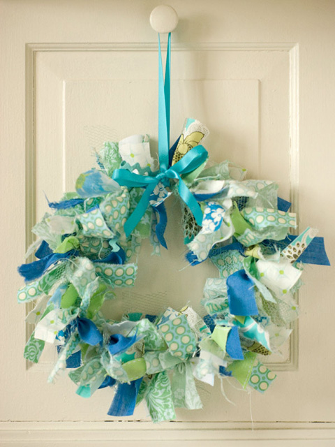 diy rag wreath